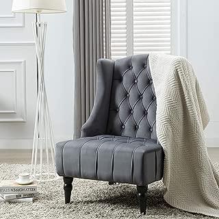 Best grey velvet accent chair Reviews