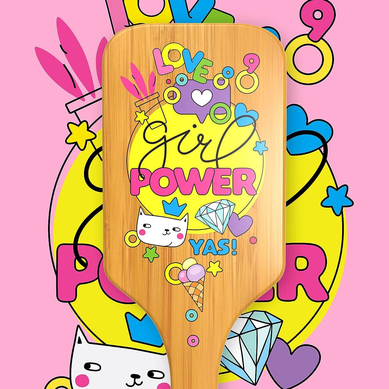 Popular brand in the world Girl Power - Wooden Bamboo Hairbrush Comb for All Ranking TOP14 Ha Detangling
