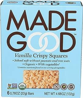 Madegood, Crispy Squares Vanilla Organic 6 Count, 4.68 Ounce