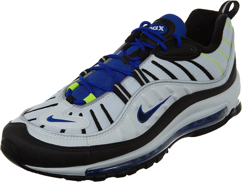 Nike Air Max 98 Men's Running shoes White Black Racer bluee Volt 640744-103