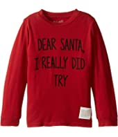 Dear Santa I Really Did Try Long Sleeve Vintage Cotton Tee (Toddler)