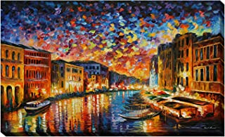 Picture Perfect International Giclee Stretched Wall Art by Leonid Afremov Venice Grand Canal Artists-Canvas, 28