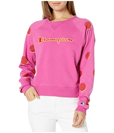 Champion Campus French Terry Crew (Dropshadow Dot/Peony Parade) Women