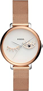 Fossil Women's Quartz Watch analog Display and Stainless Steel Strap ES4414