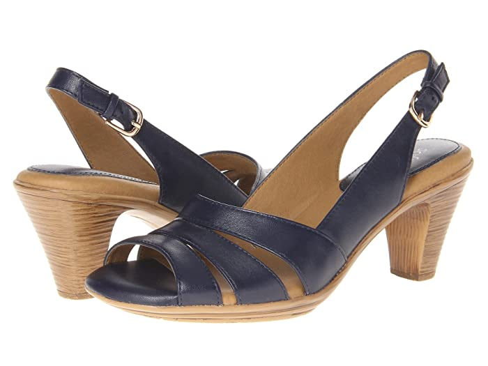 Comfortiva  Neima - Soft Spots (Navy Velvet Sheep Nappa) Womens Dress Sandals