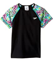 Speedo Kids - Printed Short Sleeve Rashguard (Little Kids/Big Kids)