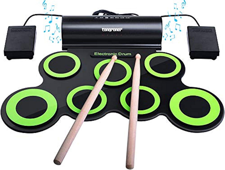 Longruner Drum Set, 7Pads (LBM001)