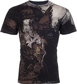 Affliction Mens T-Shirt Black Book Royalty Series Tattoo Biker MMA UFC Jeans