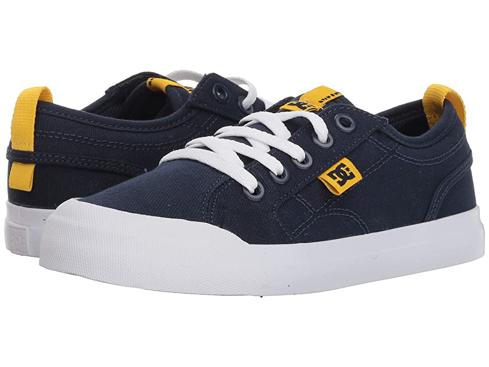 DC Kids Evan TX (Little Kid/Big Kid) (Navy/Yellow) Boys Shoes