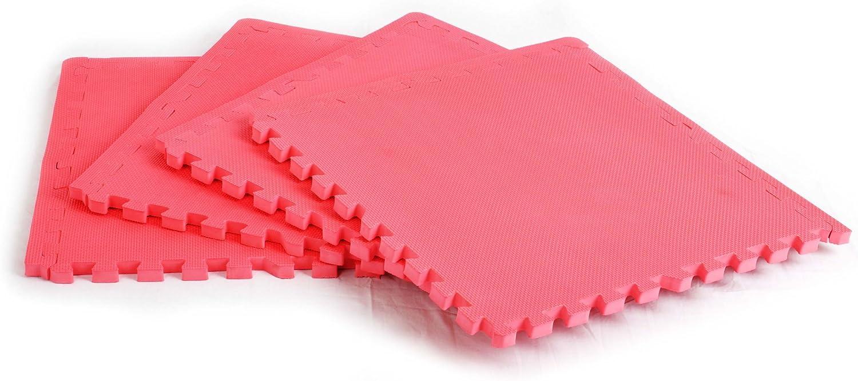 FA Sports Predectfloor Xtra 617 Floor Predection Mats 60 x 60 x 2 cm [Set of 4] Pink