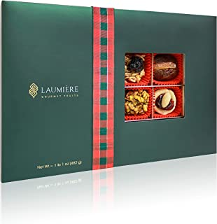 Cadeau De Noel Parfait Collection | Rectangle Box (24 Pieces) | Christmas Inspired Gourmet Gift Box | Festive Edition | Healthy Recipes with Real Fruits & Nuts | Luxury Handcrafted | Laumiere Gourmet