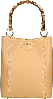 Roberta Rossi Outlet borsa a mano da donna in vera pelle Palmellato fatta a mano in Italia, 27x23x13 cm. Made in Italy RRS...