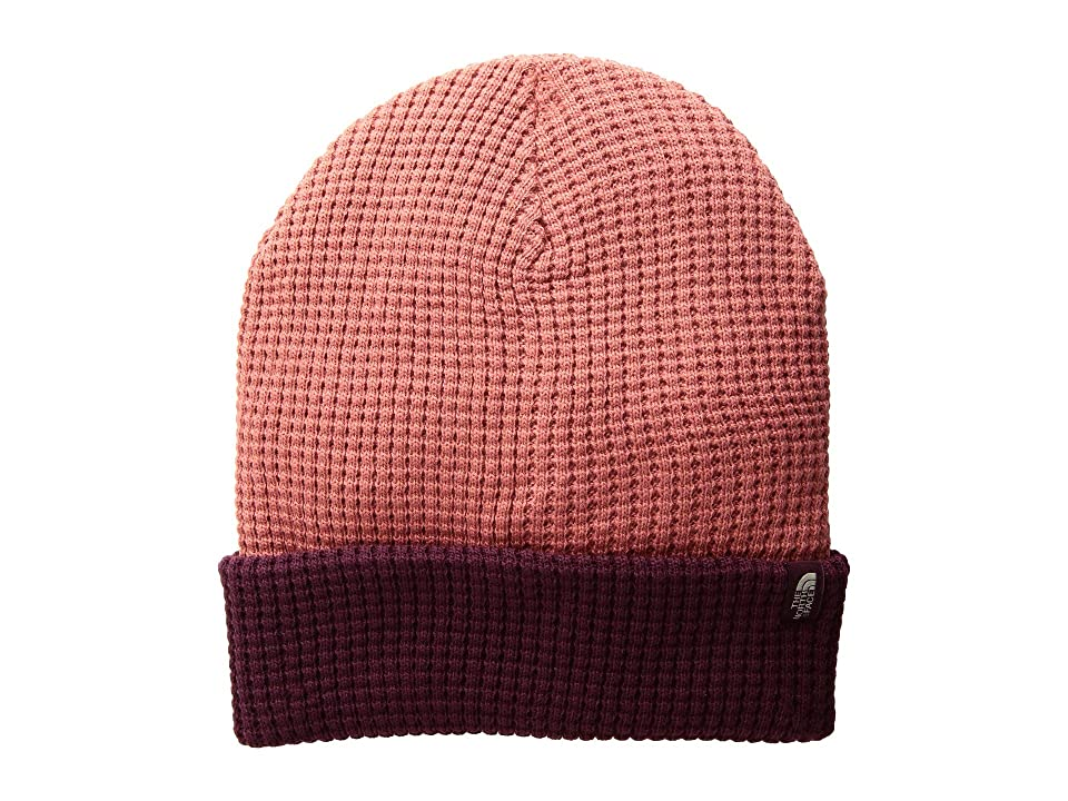 The North Face Waffle Beanie (Faded Rose/Fig) Beanies