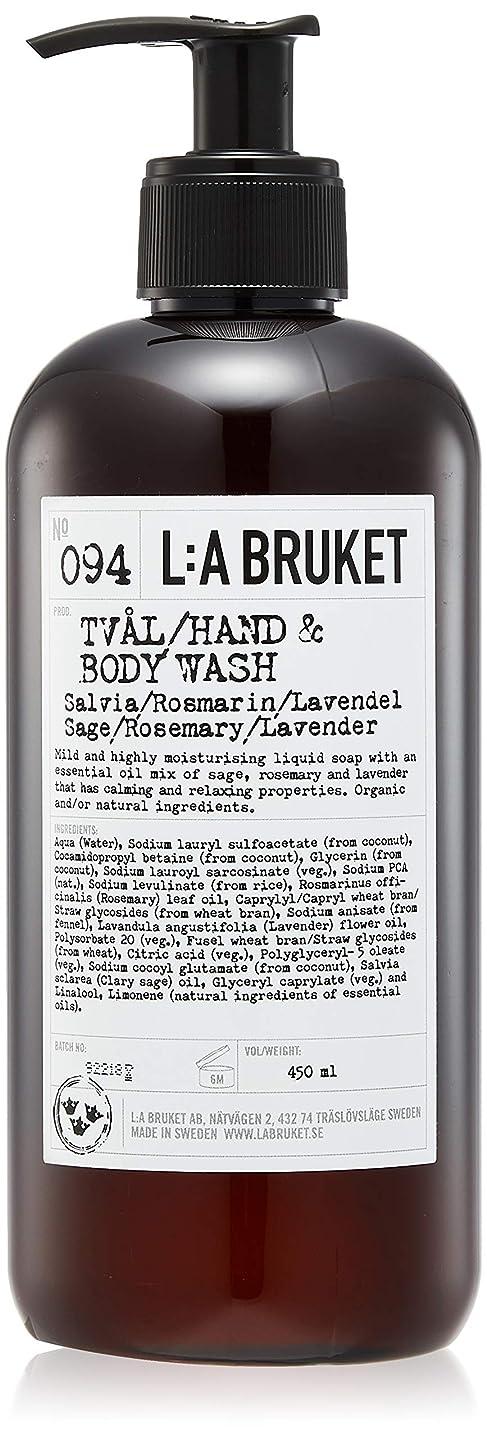 チャームホップ合法L:a Bruket (ラ ブルケット) ハンド&ボディウォッシュ (セージ?ローズマリー?ラベンダー) 450g