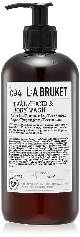 シャンパンクロールスローガンL:a Bruket (ラ ブルケット) ハンド&ボディウォッシュ (セージ?ローズマリー?ラベンダー) 450g