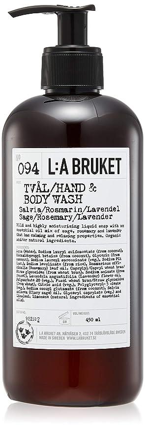ハックヒューム座るL:a Bruket (ラ ブルケット) ハンド&ボディウォッシュ (セージ?ローズマリー?ラベンダー) 450g