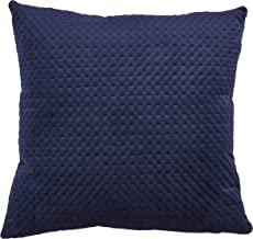 """SARO LIFESTYLE Padua Collection Pinsonic Velvet Pillow With Poly Filling, 22"""" x 22"""", Navy Blue"""
