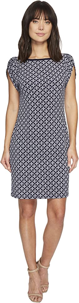 Tulip Sleeve Rope Geo Dress