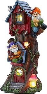 تماثيل جنوم لحديقة المنزل 36.8 سم من مجموعة تيريسا مع أضواء شجرة عيد الميلاد وحديقة المنزل تعمل بالطاقة الشمسية لتزيينات ا...