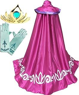 Cokos Box Girls Frozen Elsa Accessories Long Cape Cloak Gloves Tiara Set