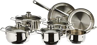 WMF 11 Piece Stainless Steel Cookware Set, Silver