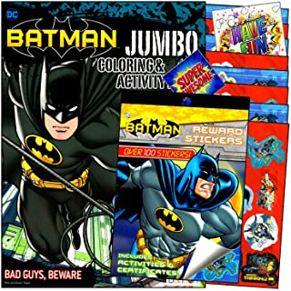 Batman Coloring Book Pack with Reward Stickers Activity Book Bundled with 2 Separately Licensed GWW Coloring Fun Prize Sti...
