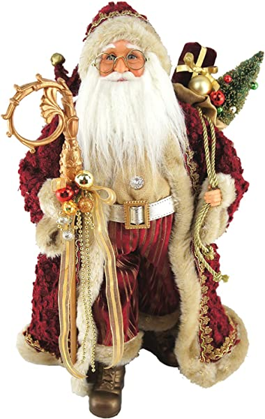 Santa S Workshop 7561 Aristocrat Claus Figurine 18 Multi