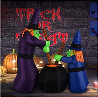 Yal Boutique 6FT Halloween Inflatable Airblown Bubble Witches Light Yard Outdoor Decorations