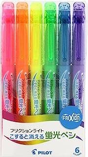 Pilot Highlighter Frixion Light, 6 Color Set