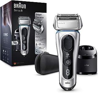 Braun Series 8 8370 cc Afeitadora Eléctrica Hombre Nueva Generación, Para Barba, Recargable, Inalámbrica, Estación Limpiez...
