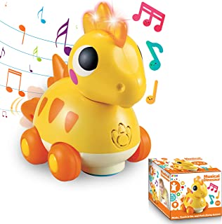 JOYIN Musical Dinosaur with Sounds and Lights for Infants, Babies & Toddlers Interactive Learning Development, School Classroom Prizes, Educational Toy, and Playtime Fun