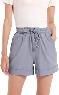 Womens Shorts High Waisted Shorts - Comfy Shorts for...