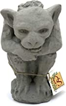 Designer Stone Sitting Gargoyle Statue with or Without Candleholder-Handcrafted in The USA (Antique, Candleholder)