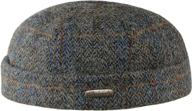 Sterkowski Docker Cap Genuine service A surprise price is realized Scottish Harris Tweed for Beanie