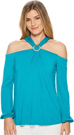 MICHAEL Michael Kors - Ring Shired Halter Top