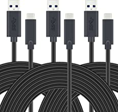 USB Type C Cable, UMECORE (6ft, 3 Pack) USB C to A 3.0 Cable Fast Charging Sync Cord for Nintendo Switch, Samsung Galaxy S8, Google Pixel XL, ZTE Zmax Pro, HTC 10, Bolt U11 and More