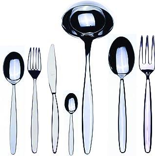 Mepra 103822051 Flatware Set, [51 Piece, Metallic Finish, Dishwasher Safe Cutlery