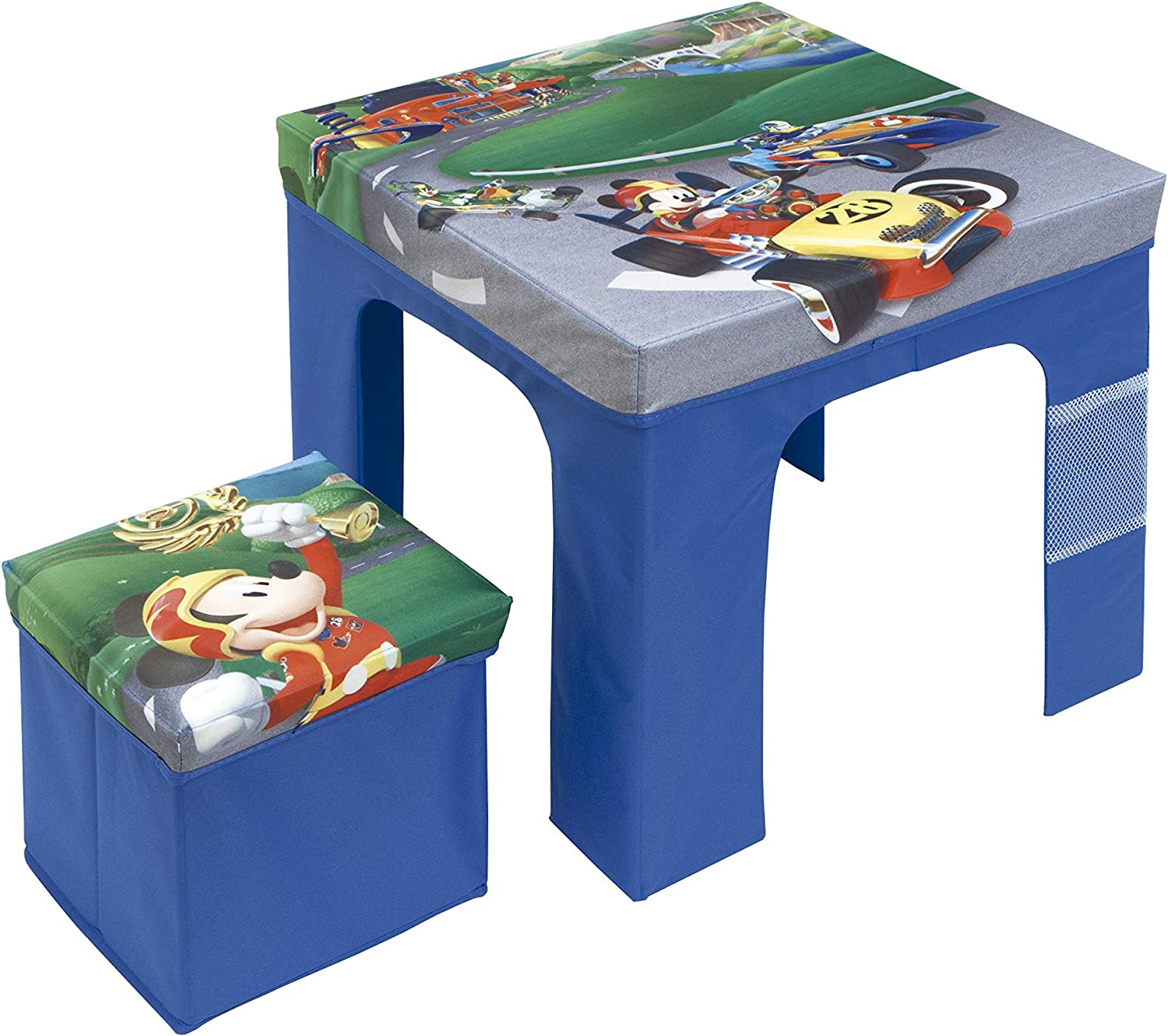 Arditex 50x50x40 cm Folding Table and Stool Set Cube Storage Box 25x25x25 cm Licenced Mickey Mouse, PP + Box, 50 x 50 x 40 cm
