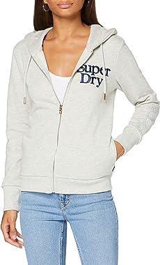 Superdry Applique Serif Ziphood Sweat-Shirt À Capuche Femme