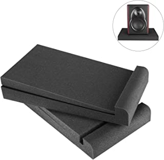 Neewer 2 Packs Studio Monitor Isolation Pads for 5 inch Monitors, Made of High Density Acoustic Foams, 11.4 x 6.3 inches/2...