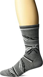 Icebreaker Merino Men's Lifestyle Ultra Light Crew Seismograph 7 Socks, Twister Heather/Jet Heather