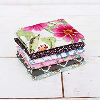 Threadart 6 Fat Quarter Bundles Grab Bags – Mixed Prints Set 2 100% Cotton Fabric..