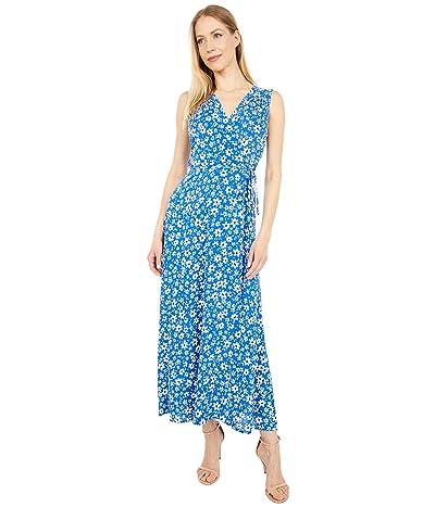 Calvin Klein Rayon Challis Floral Print Maxi Dress Women