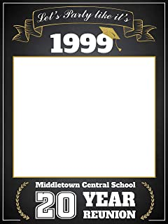 Class Reunion Photo Booth prop, Custom Graduation Reunion, Size 24x36, 48x36; Personalized College University Reunion Photo Frame, Class of 2019, Selfie frame Handmade Party Supply, Reunion Decoration