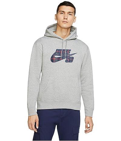 Nike SB HBR Hoodie (Dark Grey Heather/Midnight Navy) Men