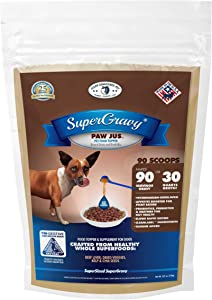 PAWjus SuperGravy - Natural Dog Food Gravy Topper - Hydration Broth Food Mix - Human Grade – Kibble Seasoning for Picky Eaters – Gluten Free & Grain Free