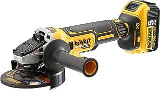 DEWALT DCG405P2 Cordless XR Brushless Angle Grinder, 18 V, Yellow/Black, 125 mm