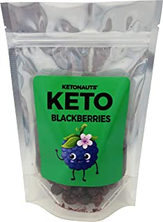 Ketonauts' Keto Friendly Freeze Dried Blackberries. Perfect Snack for Ketogenic, Paleo, Atkins, Low Carb and Diabetes Diets
