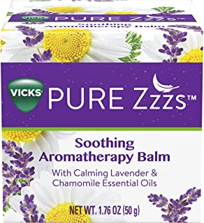 Vicks Pure Zzzs Soothing Aromatherapy Balm with Essential Oils 1.76 oz