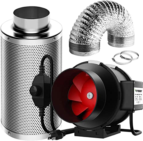 high quality VIVOSUN Ventilation Kit 6 Inch 390 high quality CFM Inline Fan with Speed lowest Controller, 6 Inch Carbon Filter and 16 Feet of Ducting for Grow Tent sale